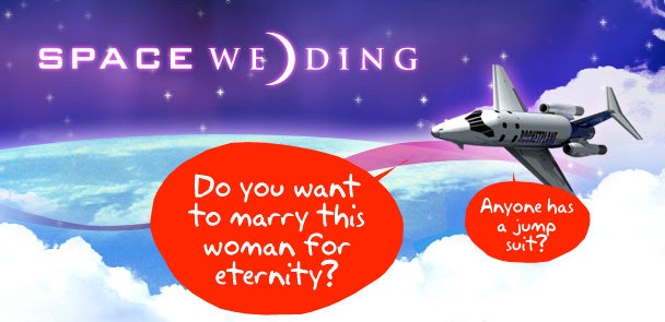 Space Wedding Doesn't Include 62.1-Mile High Club Membership