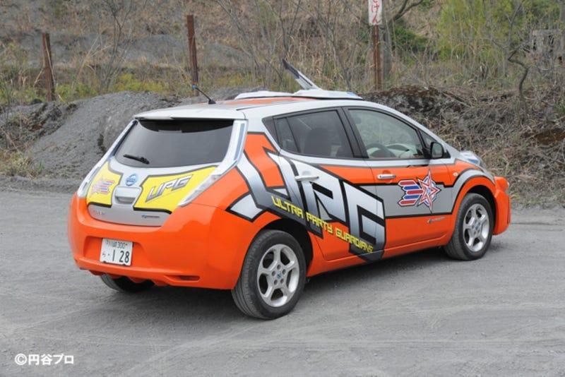 Japanese Sci-Fi Battle Nissan Leaf Is Best Nissan Leaf