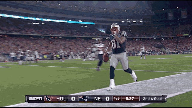 Even Danny Woodhead's Butterfingers Can't Stop New England From Scoring: Patriots-Texans In Four GIFs