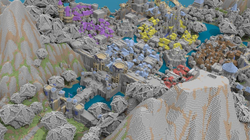 Transforming Minecraft Maps Into Stunning Works of Art