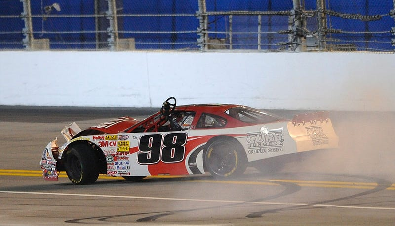 Kyle Larson Spins C. E. Falk to Win the Late Model Segment of the NASCAR UNOH Battle at the Beach