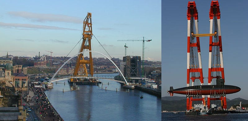 Floating Cranes Are Unnatural, Physics-Defying Monstrosities
