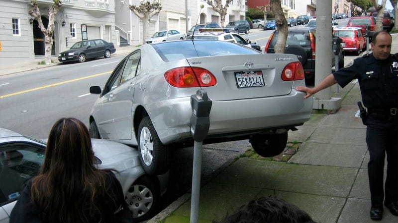 This Is How Not To Parallel Park On A Hill