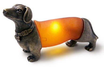 Wiener Dog Lamp Creeps Out Pets, Dinner Guests