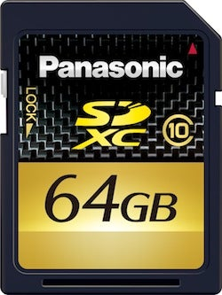 Panasonic's Moves Into the SDXC Era with 64GB Flash Cards