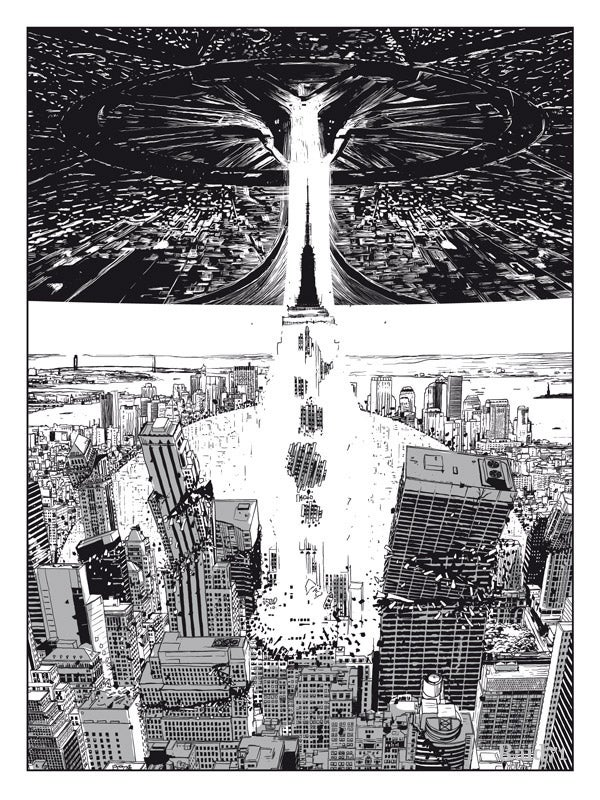 Celebrate the destruction of New York City with this crazy giant monster art