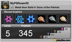 Playfire Launches PS3 Trophies Gamercard Service