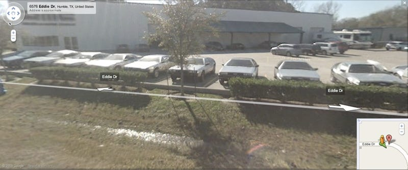 Great Scot! Google Street View Captures Line Of DeLoreans Outside DMC HQ
