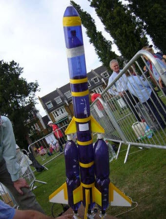 Build a water powered bottle rocket for How to make a cheap rocket