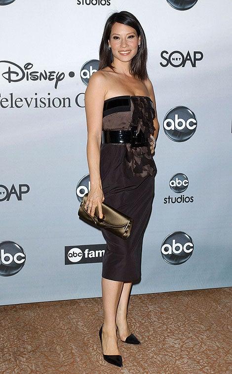 Lucy Liu's Shiny Hair, Belt, Bag