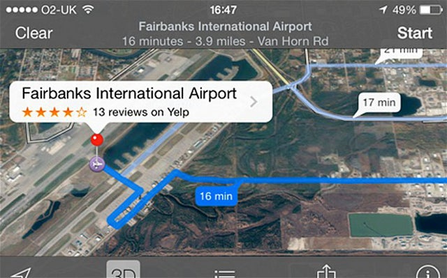 Apple Maps Glitch Takes Drivers to Runway of International Airport