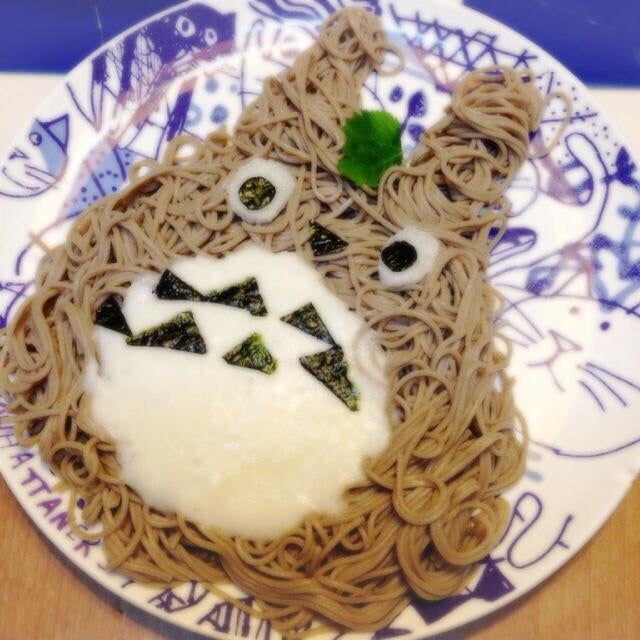 Someone's Mom Made Totoro Out of Noodles