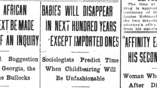 Professor from 1910: White Babies Will Be Extinct by 2015