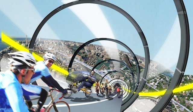 Are elevated bicycle highways the future of transportation?