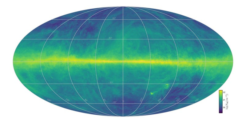 This Is the Most Detailed Hydrogen Map of the Milky Way Ever Created