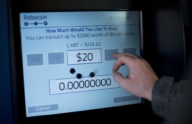 Check out the world's first bitcoin ATM