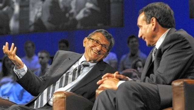 Great Man Mike Krzyzewski Defends Great Man Joe Paterno