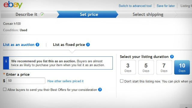 Sometimes, It's Better to Ignore Auctions when Selling on eBay