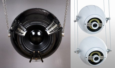Sputnik Ceiling-Mounted Subwoofer Looks Like a Turret of Sound