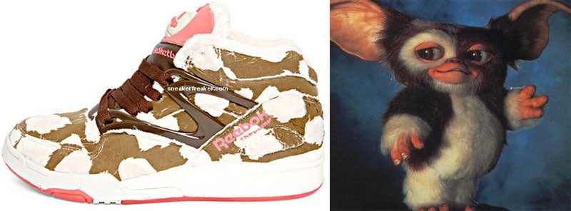 Gremlins-Themed Sneakers, Before and After a Midnight Snack