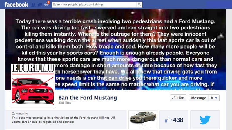 Dear Facebook Troll: Sports Cars And Assault Rifles Aren't The Same Thing