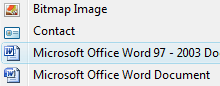 "Add Office 97/2003 Links to Windows' ""New"" Menu"