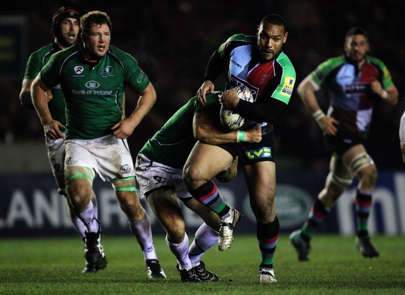 Rugby Players Go For The Ball