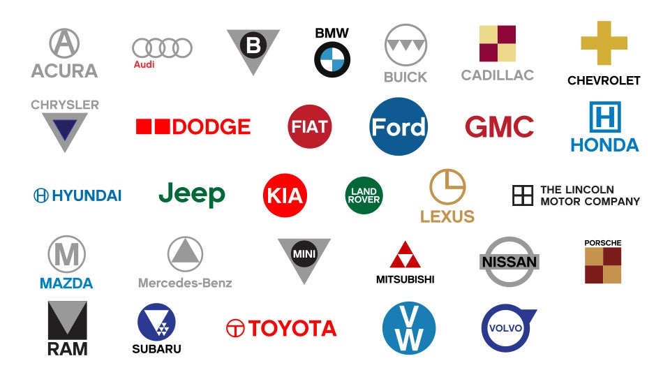 Red Automotive Logos Automotive logos - simplified.