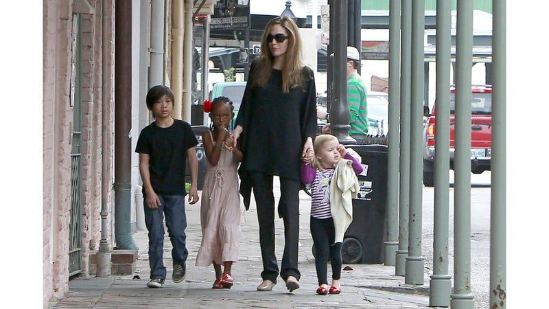 Pax Jolie-Pitt Has Attitude; Zahara Jolie-Pitt Has Blue Extensions