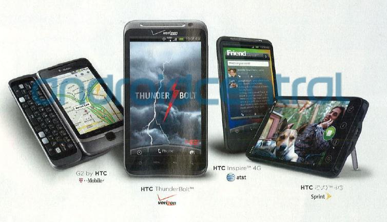Verizon HTC ThunderBolt & AT&T Inspire 4G Leak