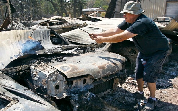 Texas fires destroy one collector's 175 classic cars