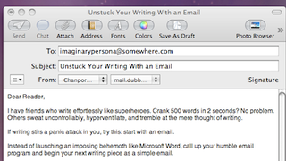 Beat Writer's Block with Email Drafts