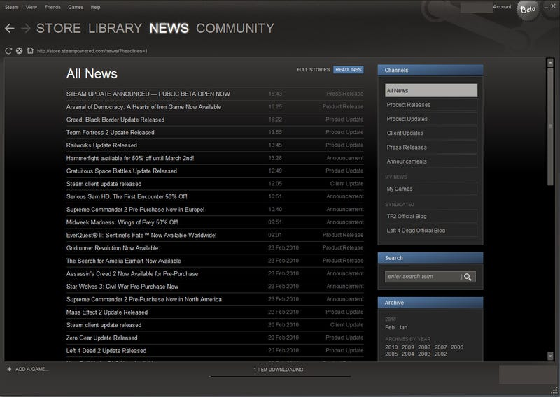 Take A Tour Of The New, Improved Steam