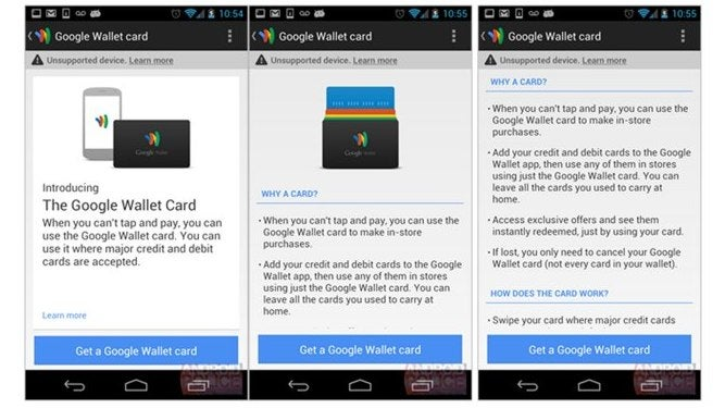 Help Site Confirmed Physical Google Wallet Card