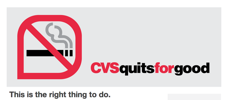 CVS to Stop Selling Cigarettes Because It's the Right Thing to Do