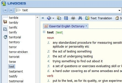 Lingoes Defines and Translates Text, Converts Numbers, and More