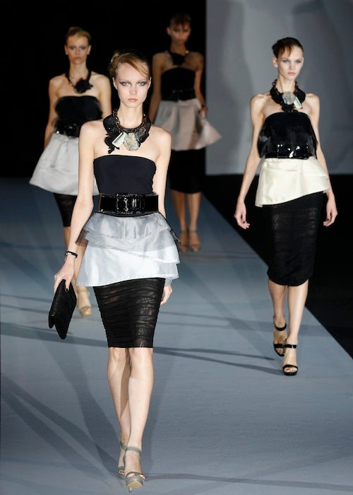 Armani Designs Cocktail Dresses For Saharan Nomads