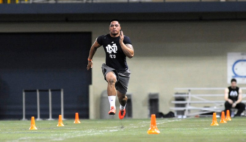 Manti Te'o's 40-Yard-Dash Was Slightly Better Than His Last 40-Yard-Dash