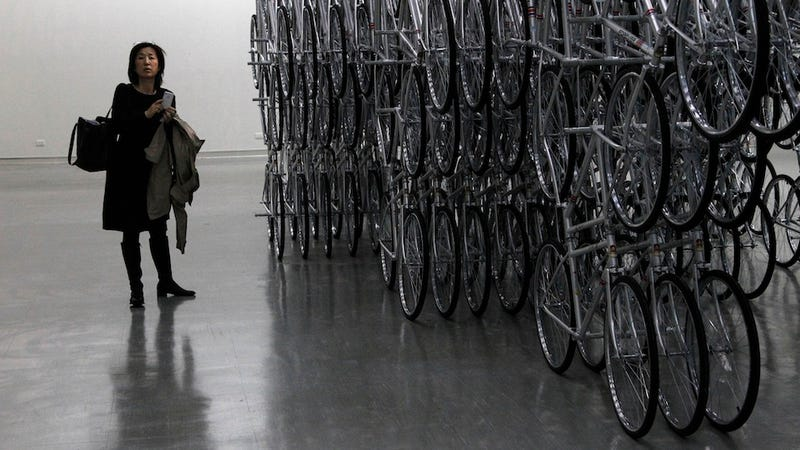 Ai Wei Wei's Forever Bicycles Is Like Looking into a Two-Wheeled Infinity Mirror