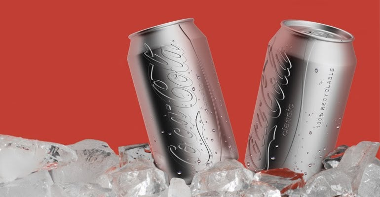 Colorless eco-friendly Coke can design is cooler than the real one