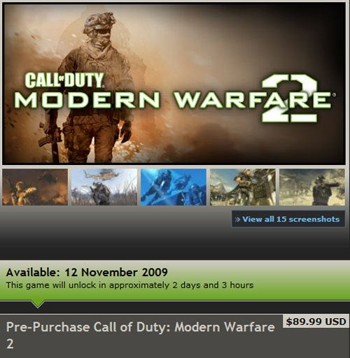 Modern Warfare 2 Locked Until Thursday For Steam Customers