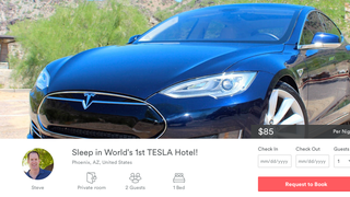 Here's a Depressing Airbnb: Sleep in Some Guy's Car for $85/Night