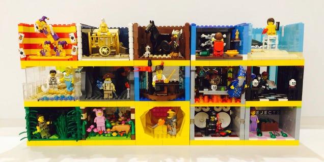 These Lego series 12 minifigure habitats are perfect
