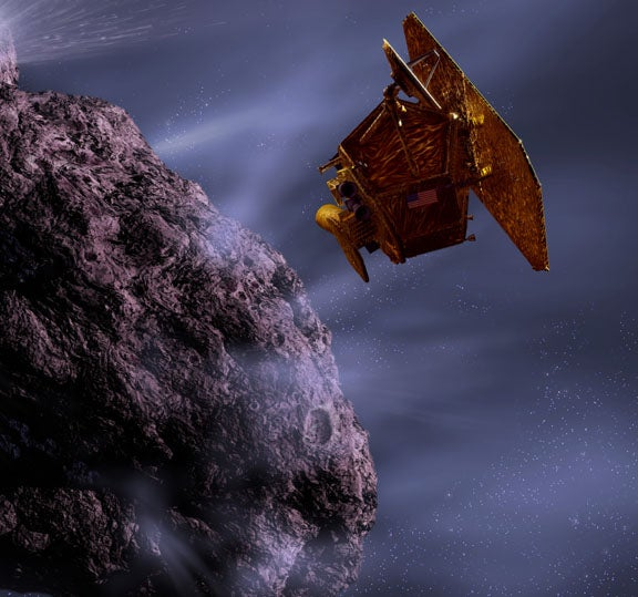 Spacecraft zooms in for a close look at the cold heart of a burning comet