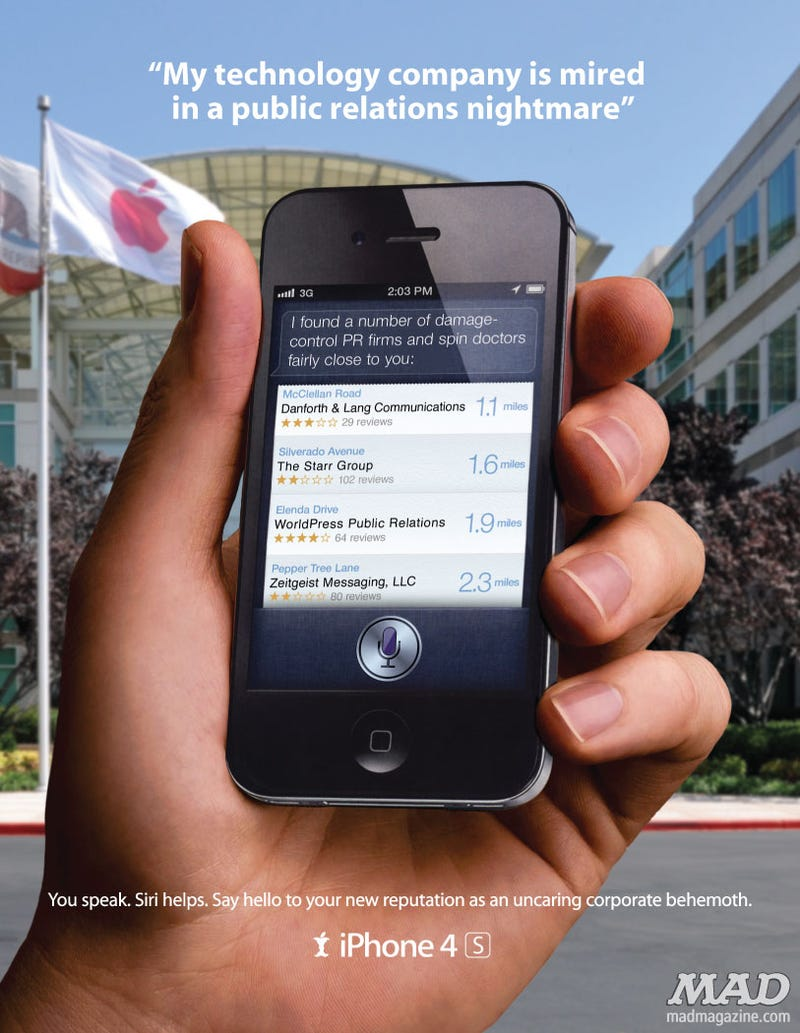 """Mad Magazine Declares iPhones One of """"The 50 Worst Things in America"""""""