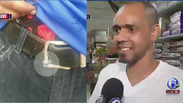 One in a Million: Stray Bullet from Shootout Gets Lodged In Man's Lucky Belt Buckle
