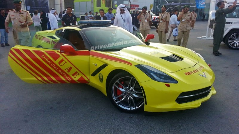 Dubai Fire Brigade Gets A Corvette Stingray To Keep Up With Dubai Cops