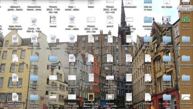 how to clean my desktop