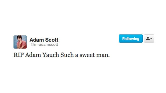 "Twitter Mourns the Loss of Adam ""MCA"" Yauch"