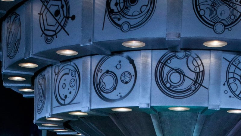 Our first peek inside the new TARDIS interior is inscribed with Gallifreyan